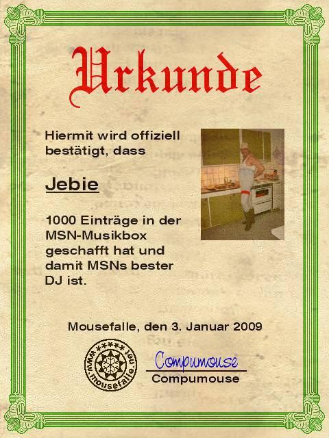 Karaoke Versionen Jebie111