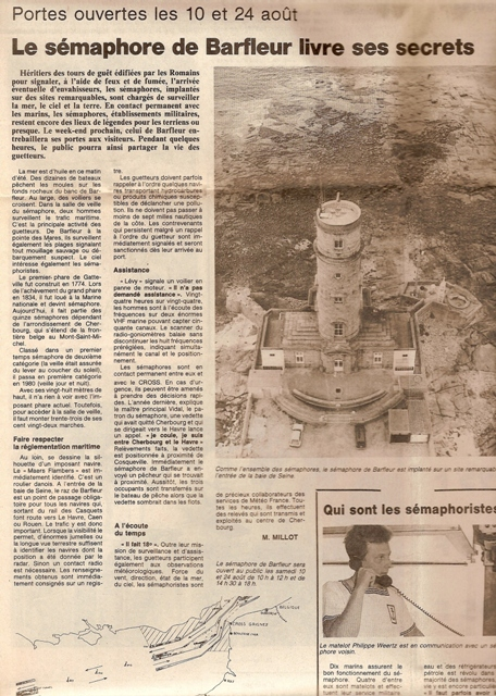 SÉMAPHORE - BARFLEUR (MANCHE) Presse18