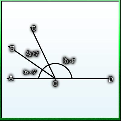 A, O e D são colineares. Calcule a medida do ângulo BÔC Boc_a_10