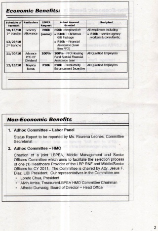 LBPEA ACCOMPLISHMENT REPORT 2010 Ar210