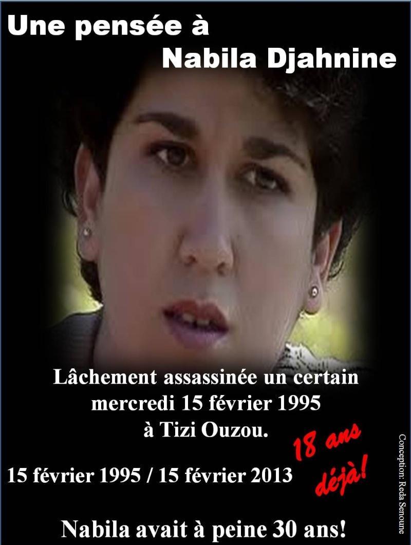 Une pensée à la militante Nabila Djahnine! Image110