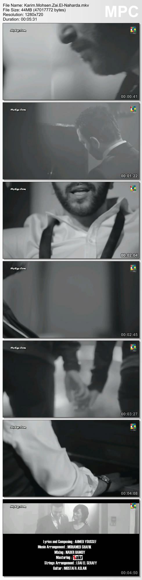 تحميل - تحميل كليب و اغنية . كريم محسن . زي النهاردة . HDTV 720p . Master Q Thumbs12