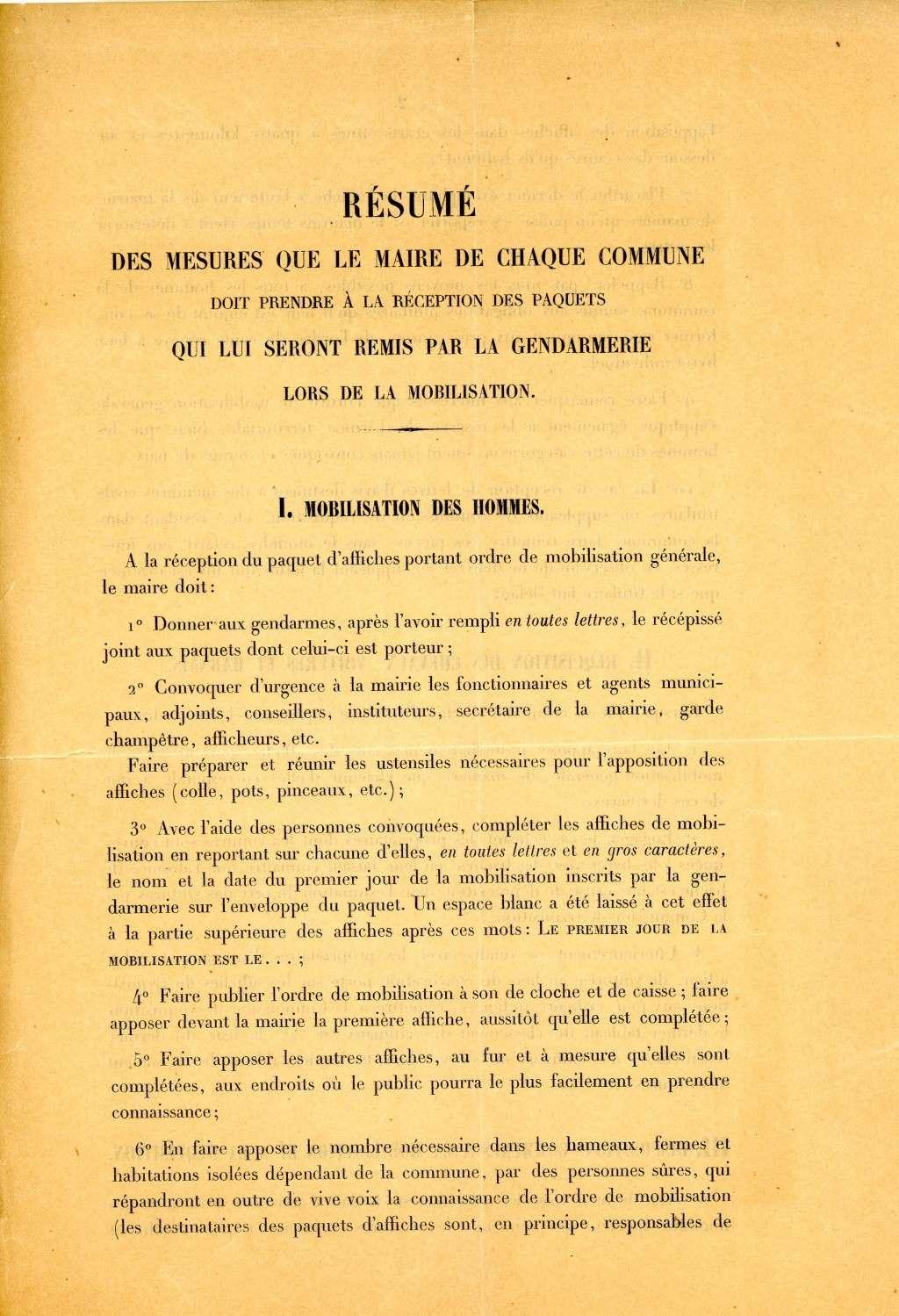 Les conditions de la mobilisation de 1914. Mesure10