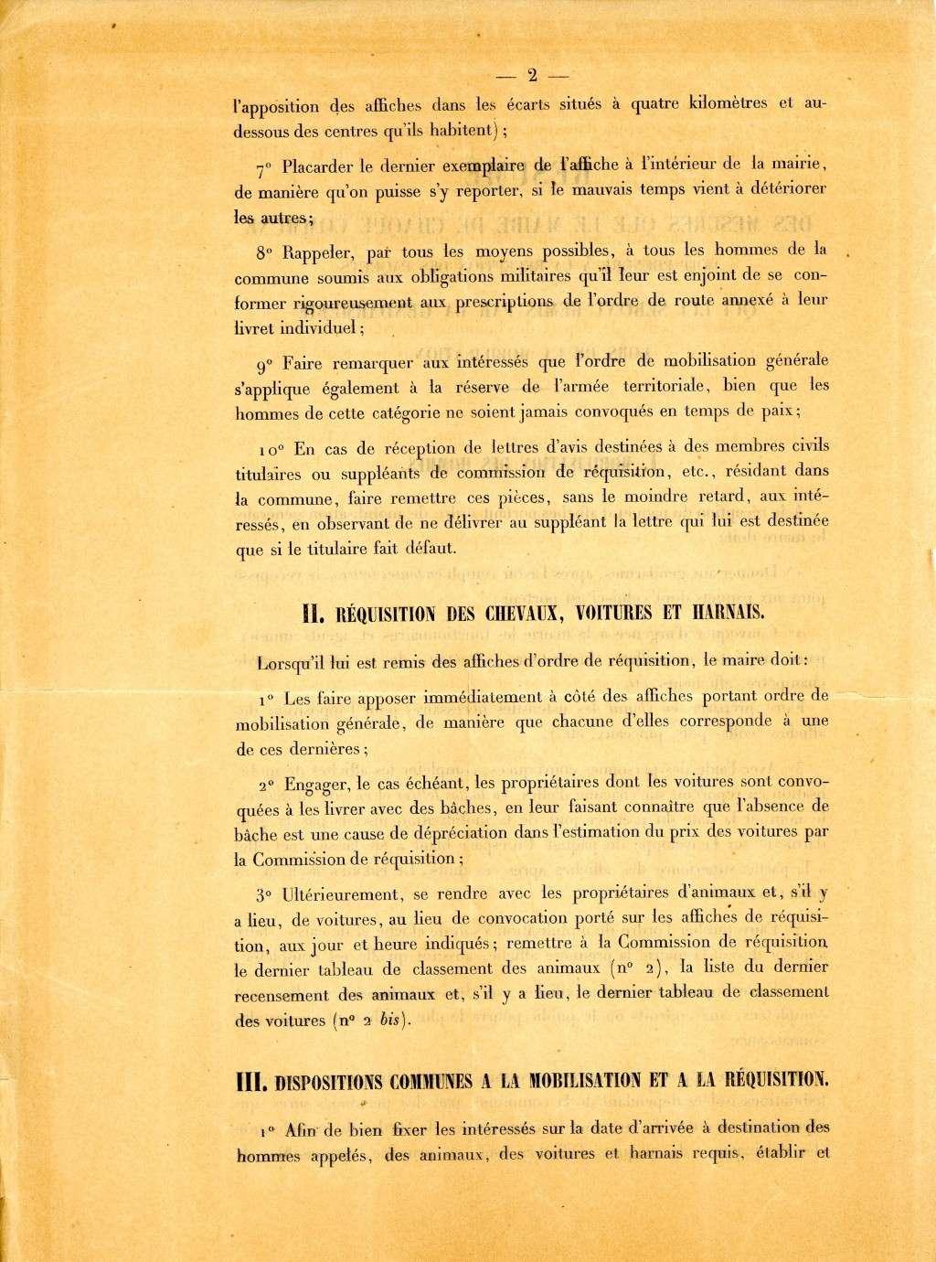 Les conditions de la mobilisation de 1914. Mesure11