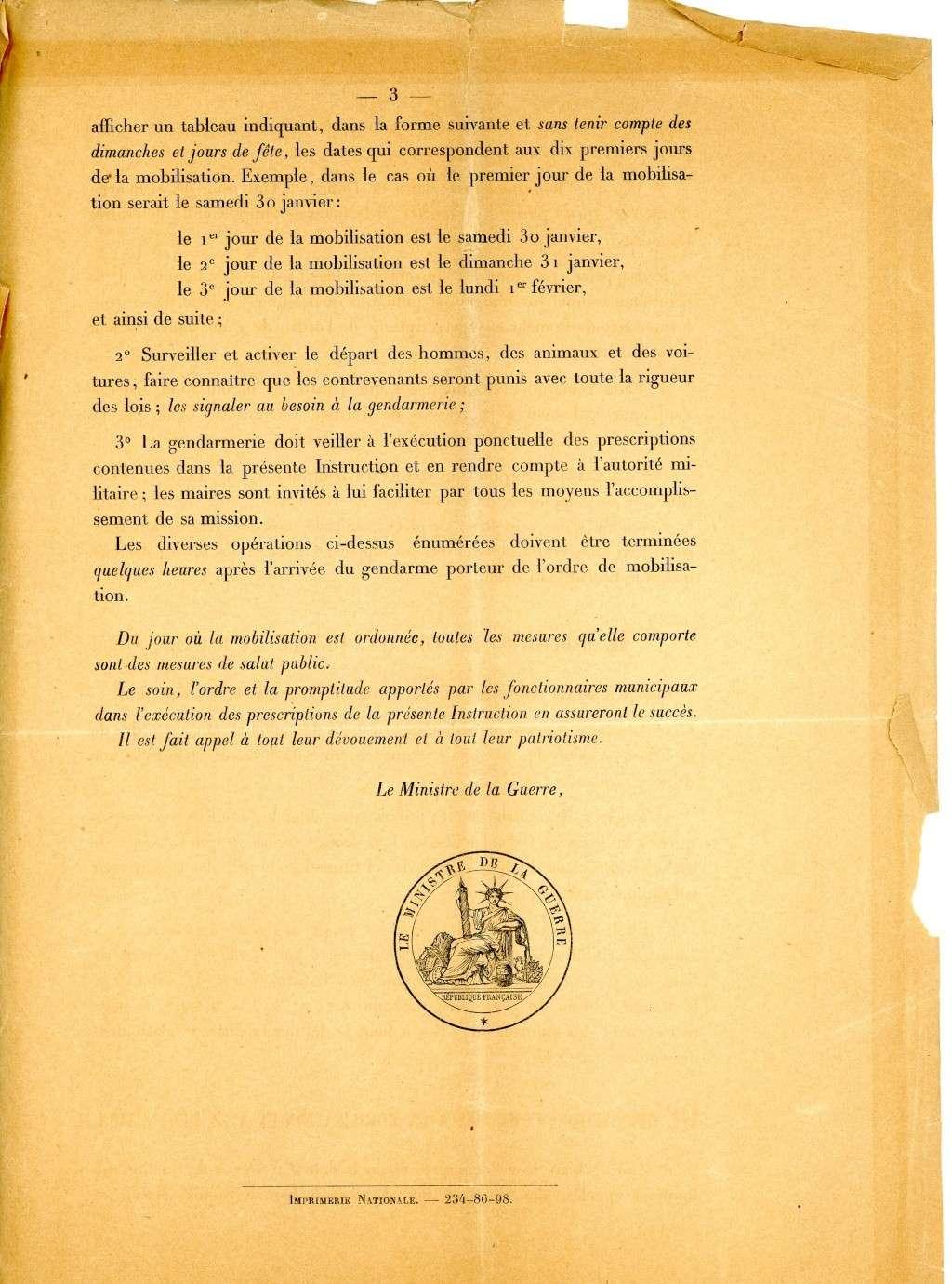 Les conditions de la mobilisation de 1914. Mesure13