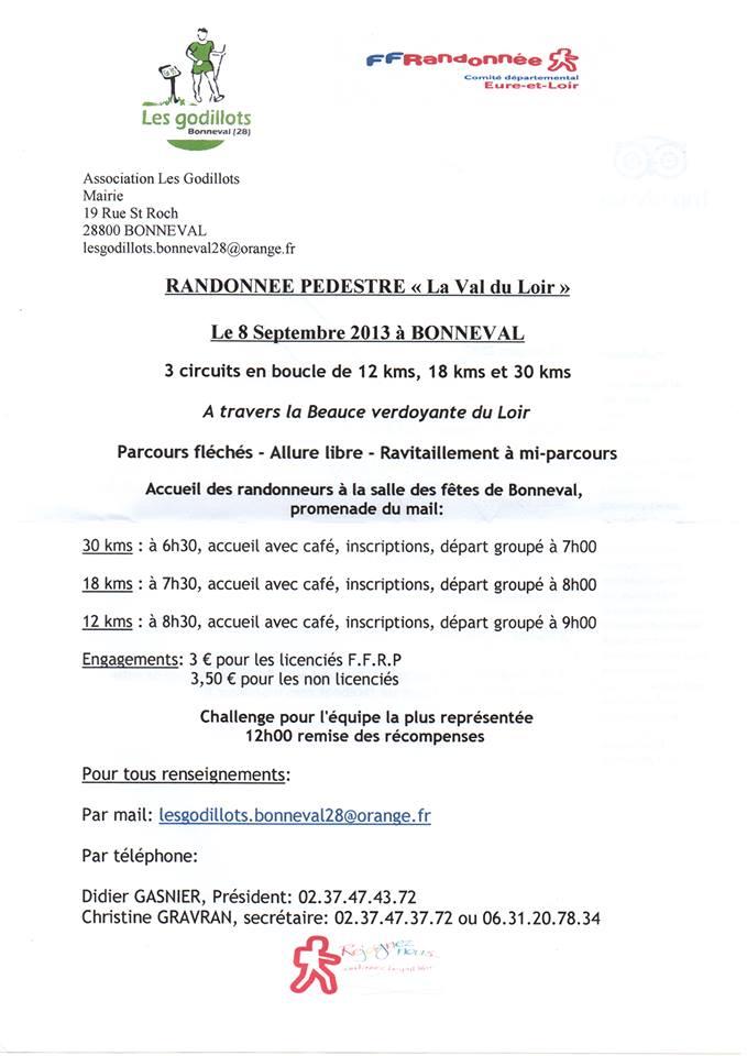 Randonnée pédestre la Val du Loir Randon12