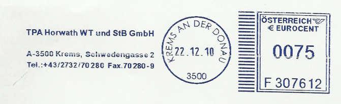 T1000 Freistempel aus Österreich Tpa_kr10