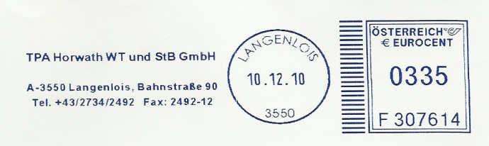 T1000 Freistempel aus Österreich Tpa_la10