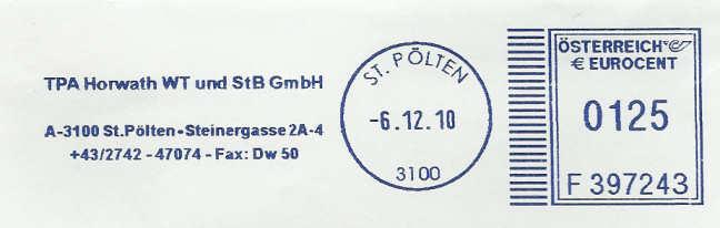 T1000 Freistempel aus Österreich Tpa_st10