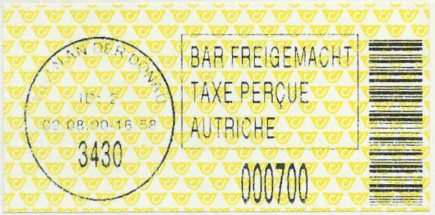 Bar-Codes in Österreich Tulln210