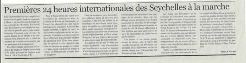 Les 24 heures internationales  des Seychelles 4e10