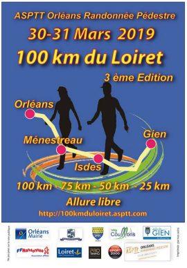 100 KM DU LOIRET 30 ET 31 MARS 2019. Affich11