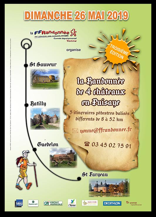 3ème Randonnée des 4 châteaux en Puisaye - 26 Mai 2019 Affich14