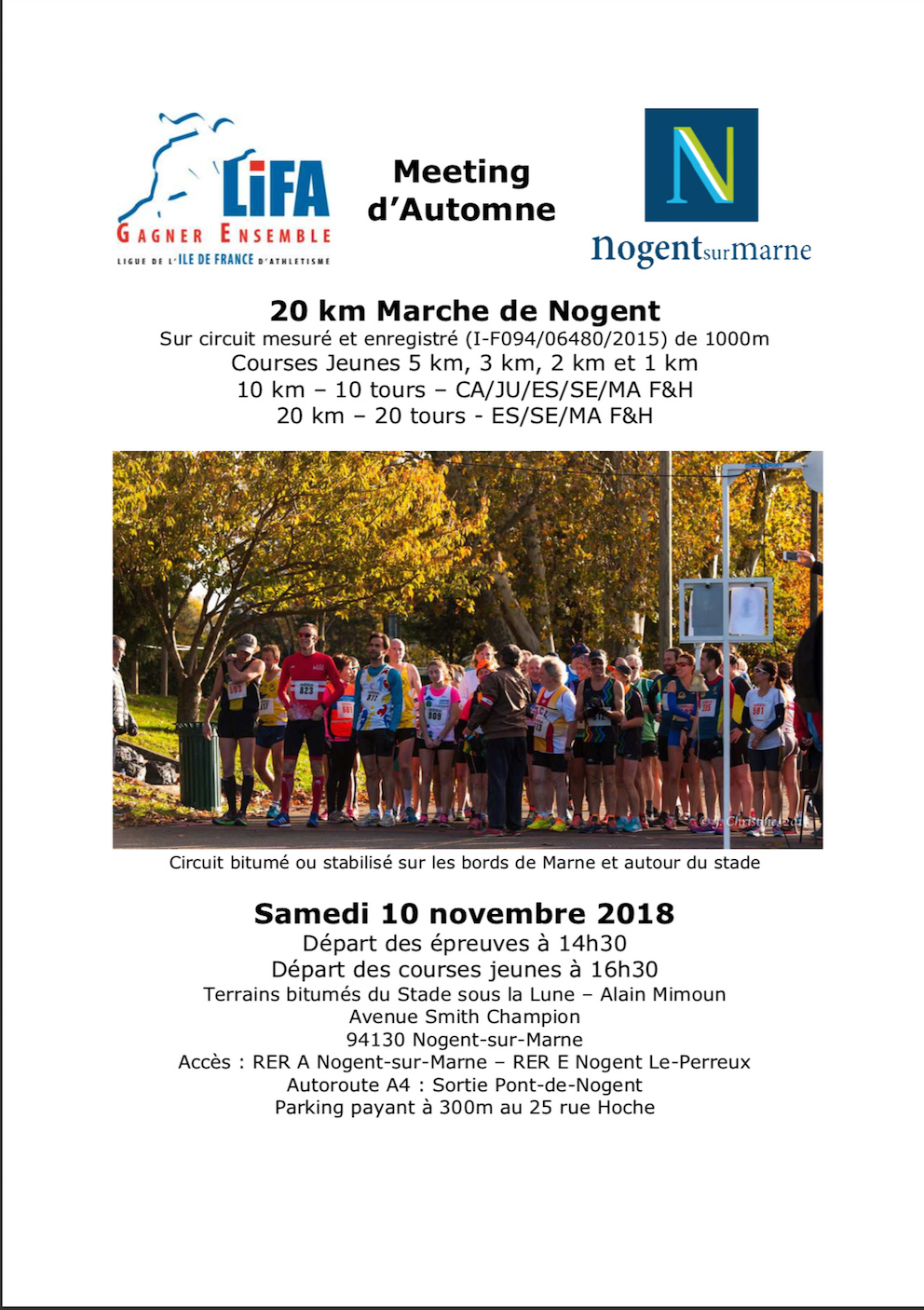 "20 km Marche de Nogent ""Samedi 10 novembre 2018 "" Compea10"