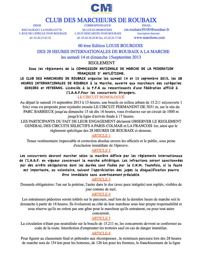 28 heures de ROUBAIX 2013 14 15 septembre Raglem10