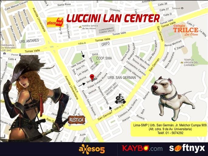 LUCCINI INTERNET.(NYXBERRY CAFE, cash de SOFTNYX, AXESO5 y KAYBO) - Portal Laly10