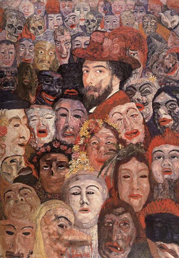 Masques dans l'art Ensor-10