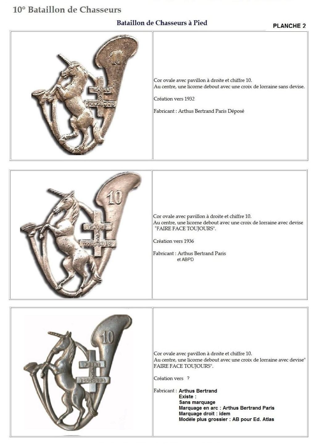Les insignes de bataillons- Mise à jour... 10e_pl11