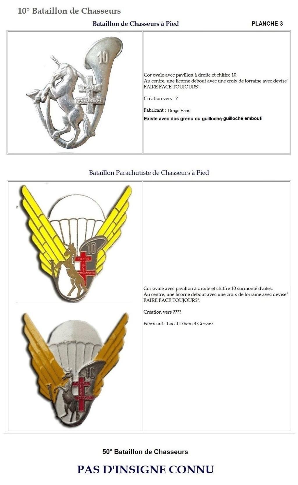 Les insignes de bataillons- Mise à jour... 10e_pl12