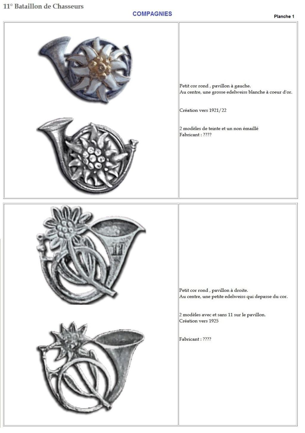 Les insignes de bataillons- Mise à jour... 11e_pl10