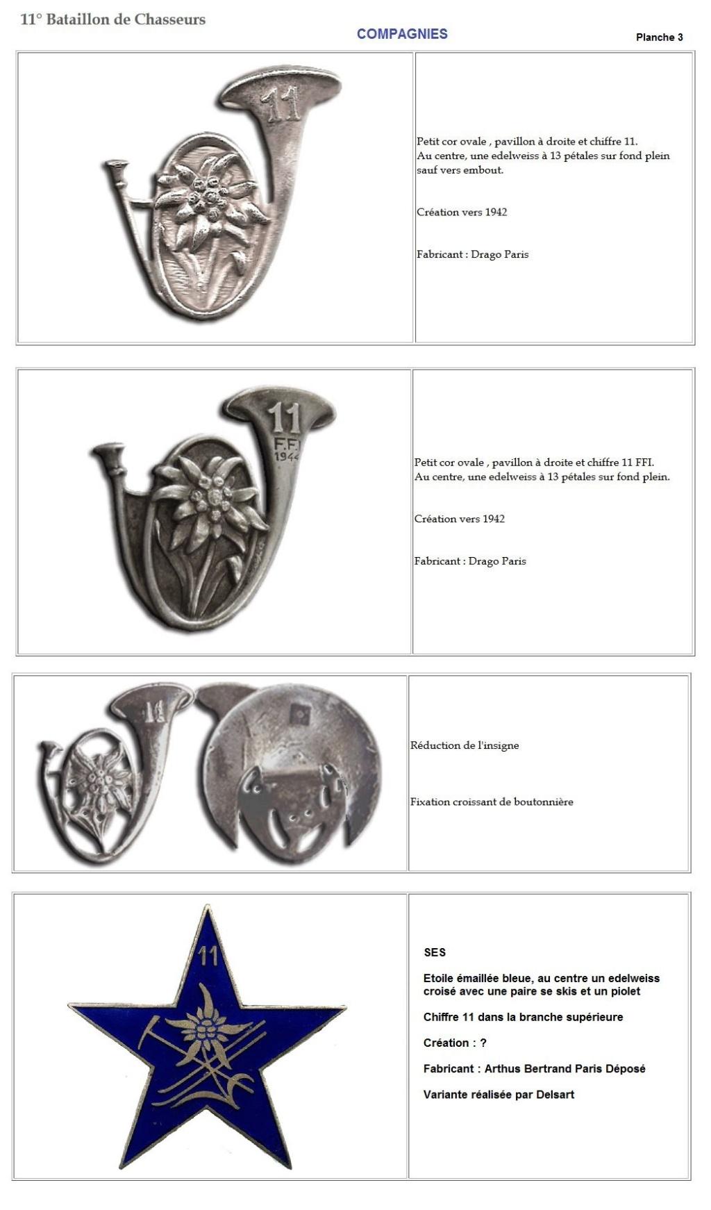 Les insignes de bataillons- Mise à jour... 11e_pl11