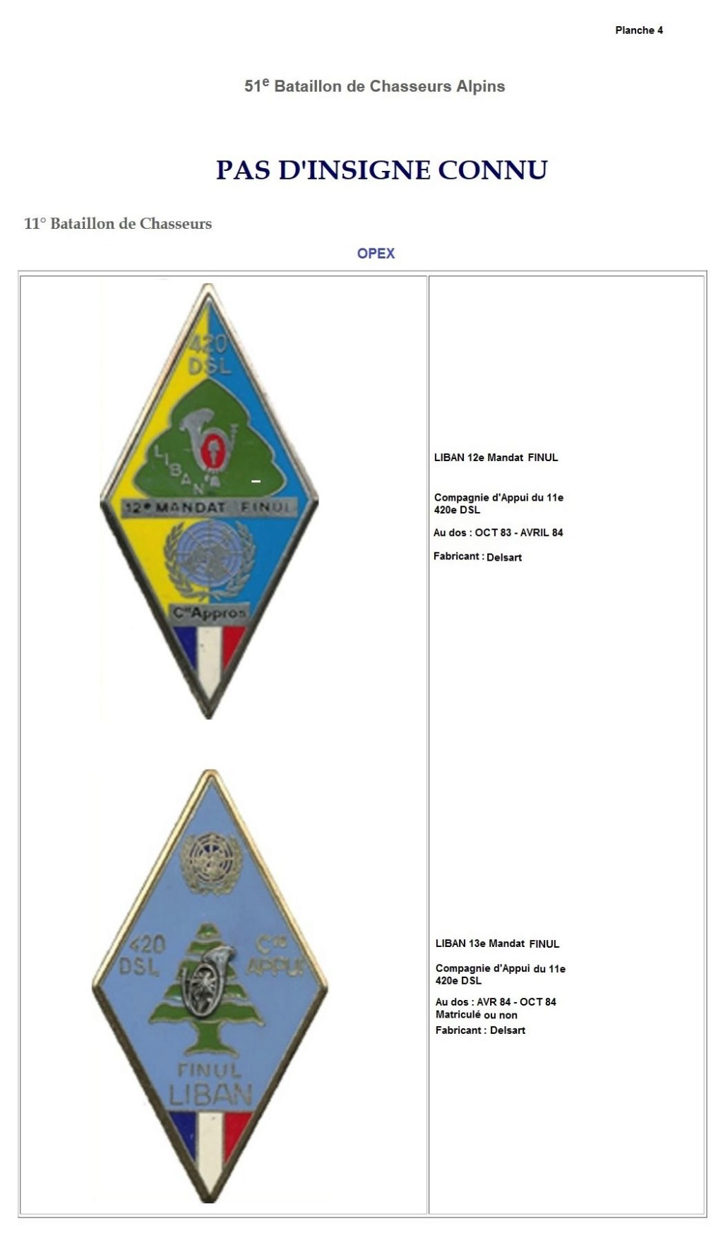 Les insignes de bataillons- Mise à jour... 11e_pl13