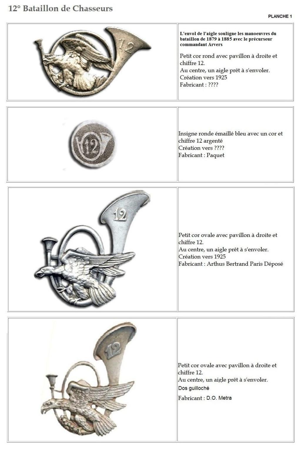 Les insignes de bataillons- Mise à jour... - Page 2 12e_pl14