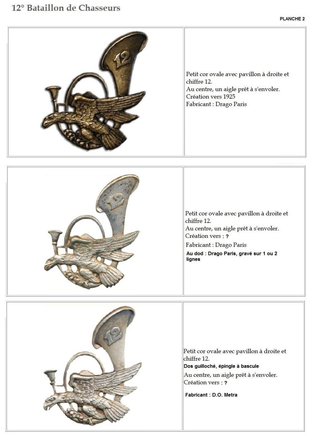 Les insignes de bataillons- Mise à jour... - Page 2 12e_pl15
