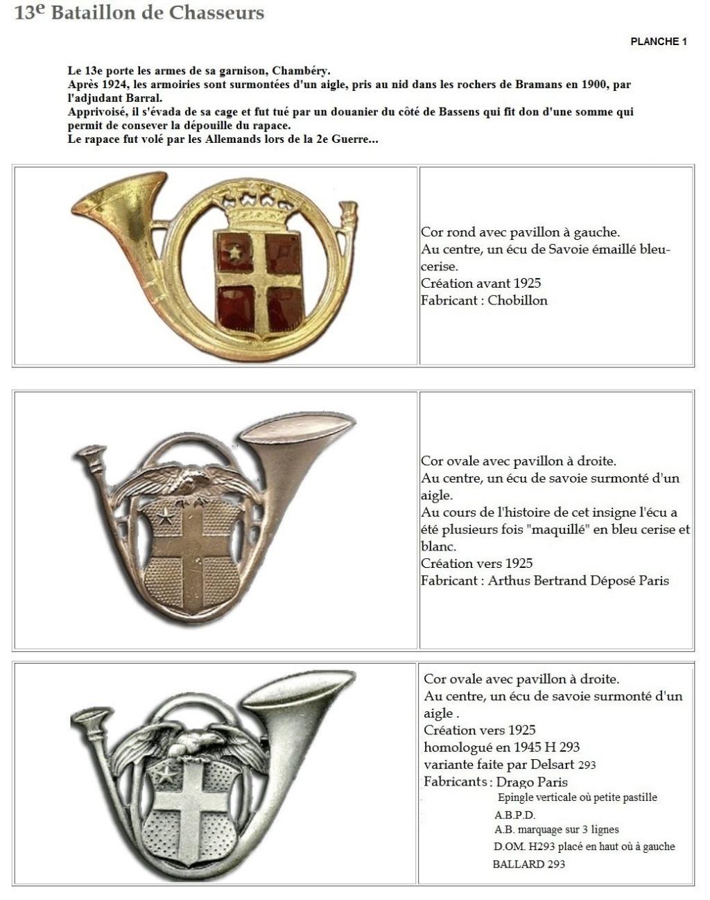 Les insignes de bataillons- Mise à jour... - Page 2 13e_pl24