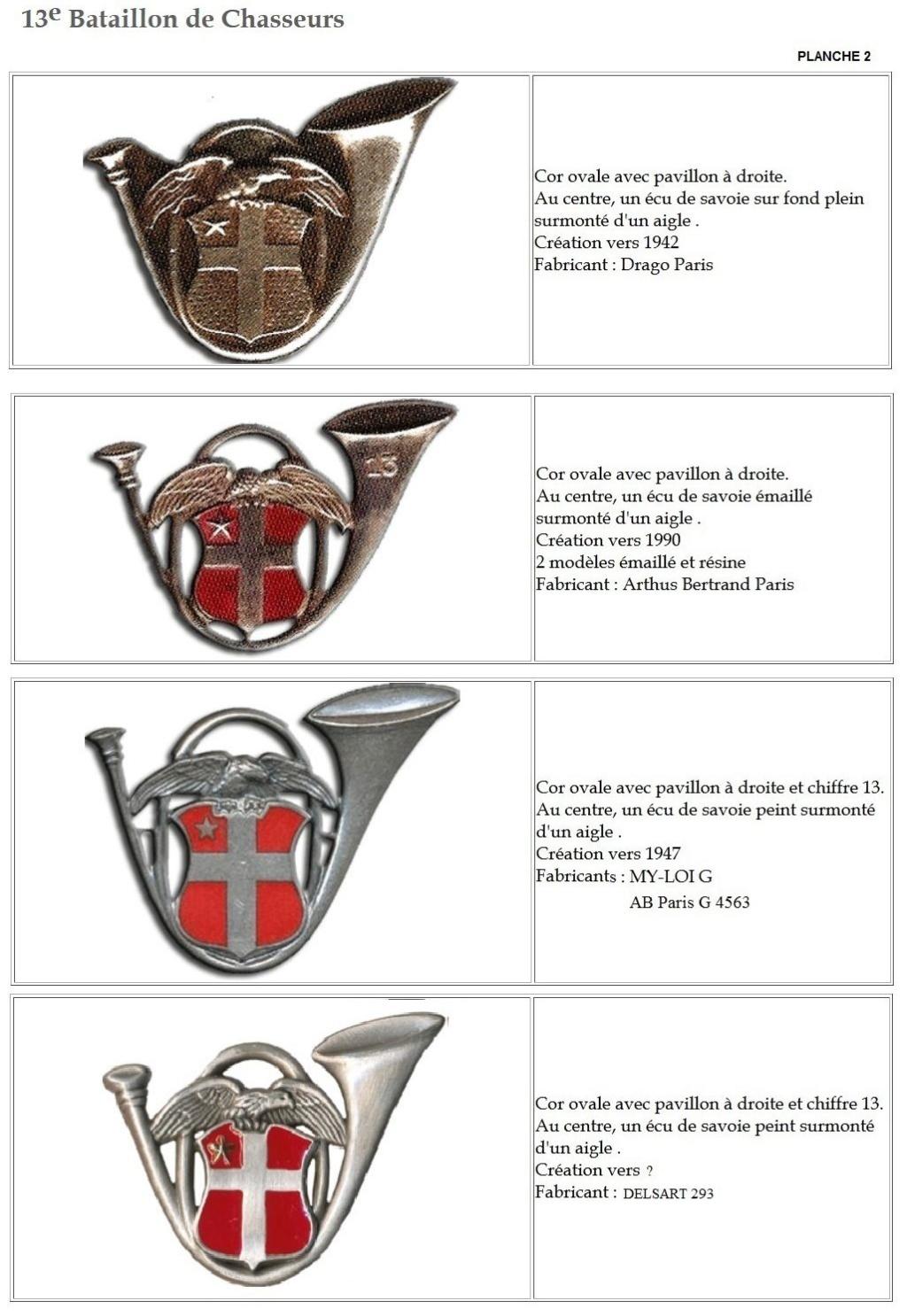 Les insignes de bataillons- Mise à jour... - Page 2 13e_pl25