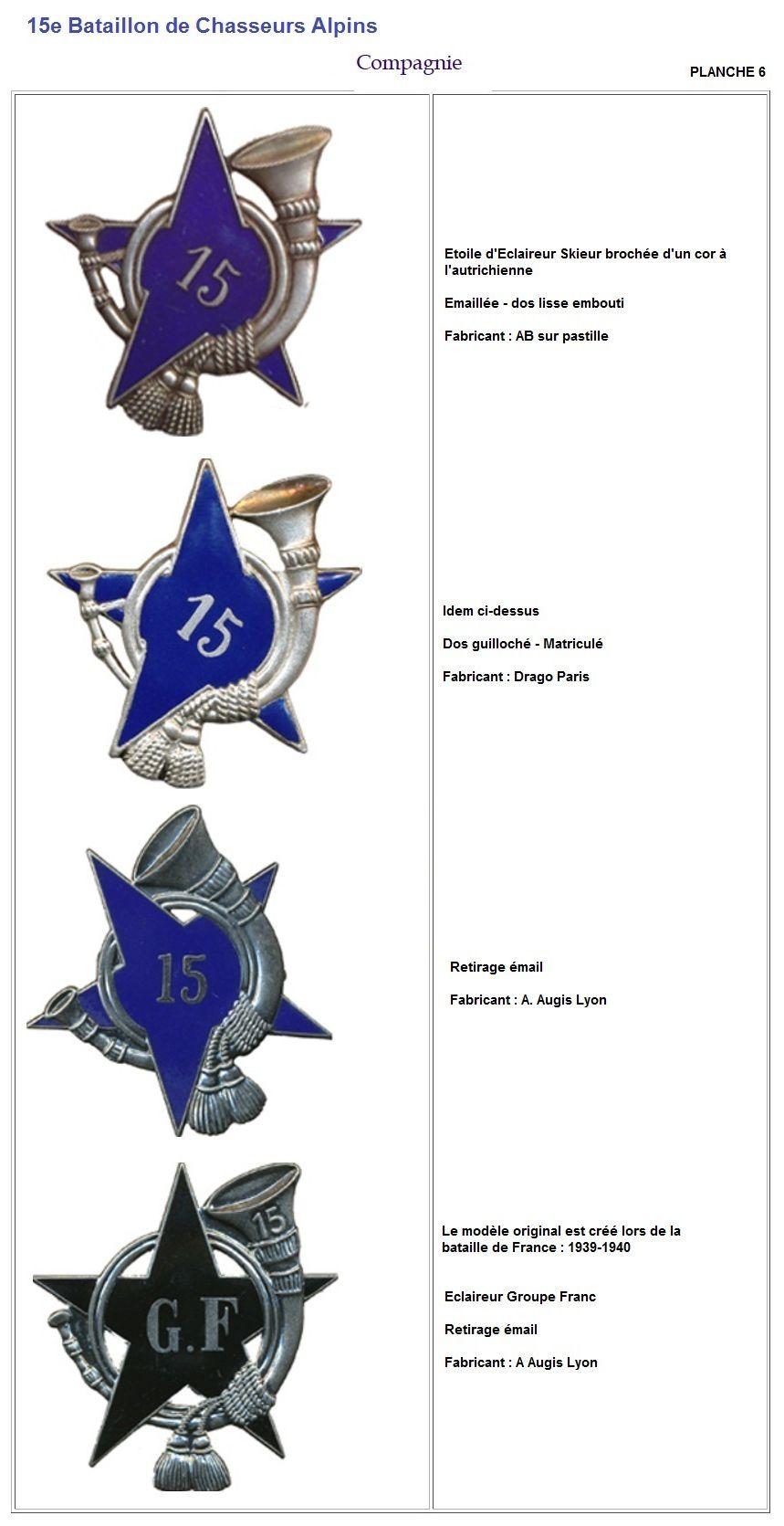 Les insignes de bataillons- Mise à jour... - Page 2 15e_pl15