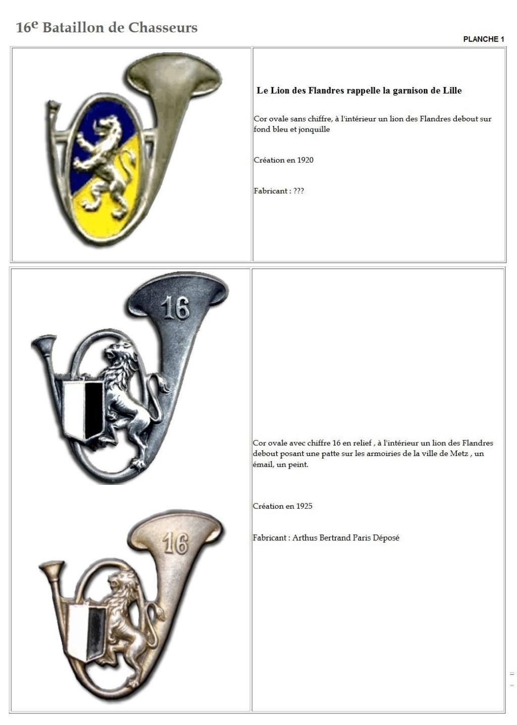 Les insignes de bataillons- Mise à jour... - Page 2 16e_pl10