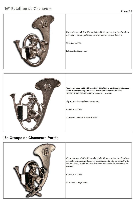 Les insignes de bataillons- Mise à jour... - Page 2 16e_pl12