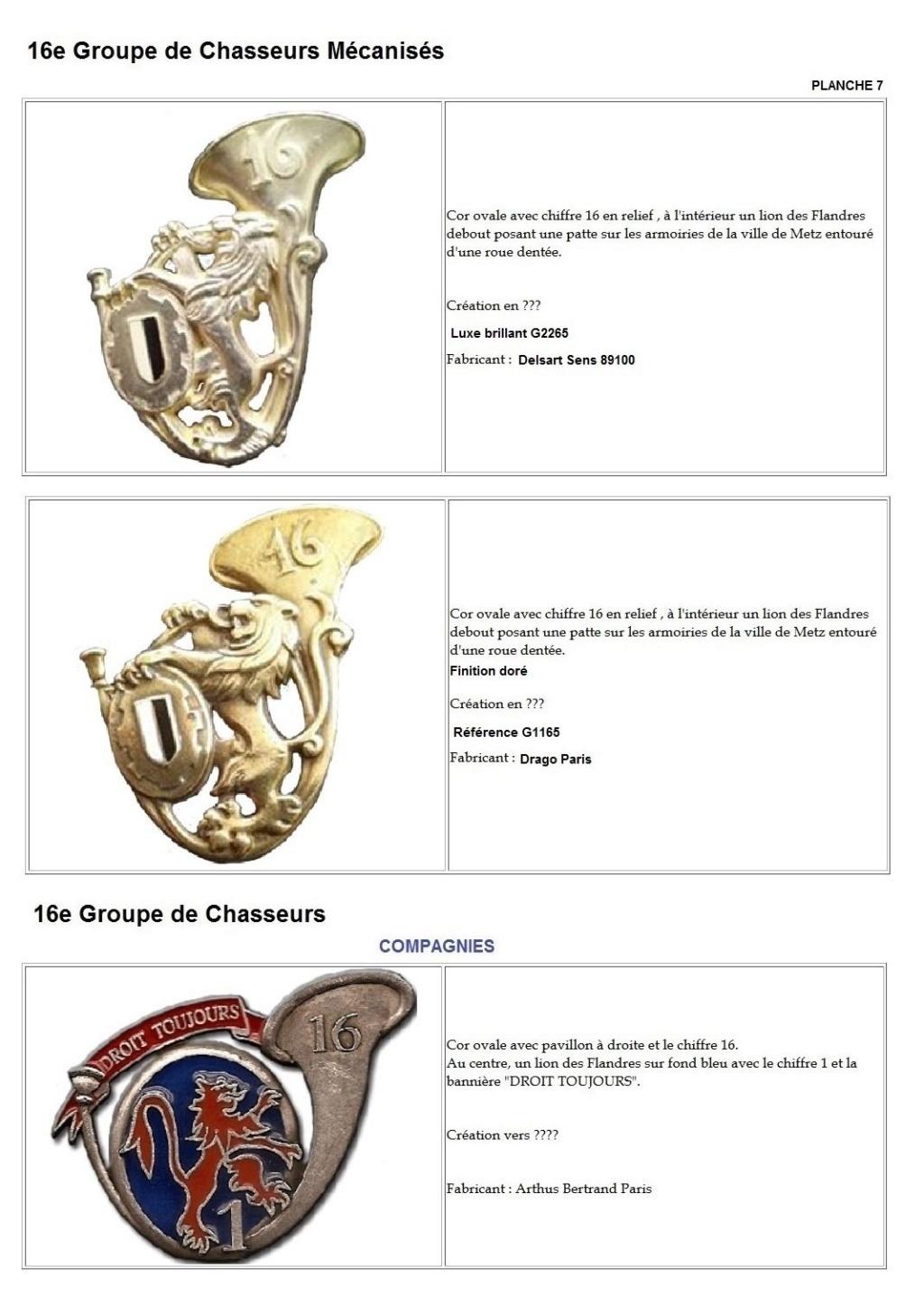 Les insignes de bataillons- Mise à jour... - Page 2 16e_pl17