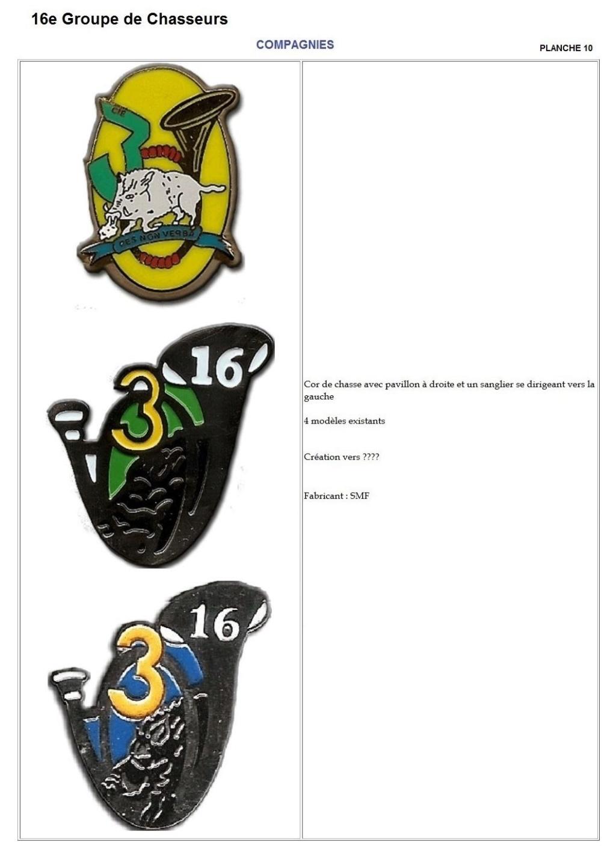 Les insignes de bataillons- Mise à jour... - Page 2 16e_pl19