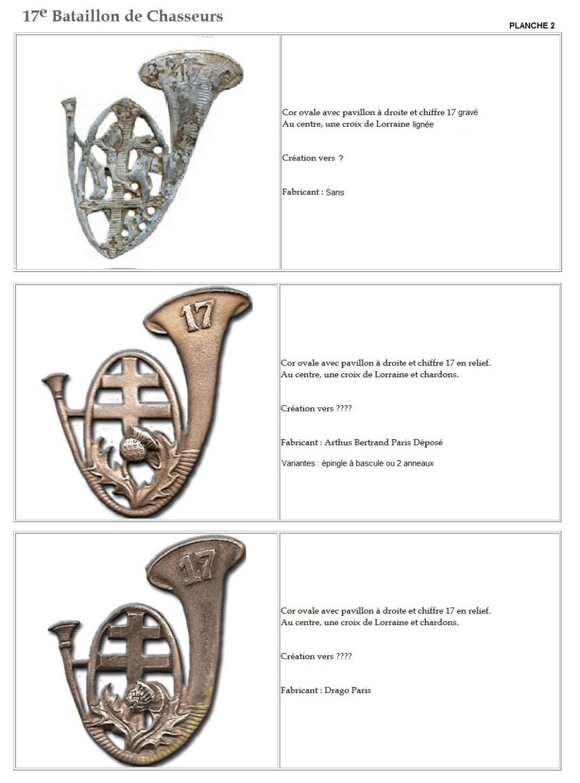 Les insignes de bataillons- Mise à jour... - Page 2 17e_pl11