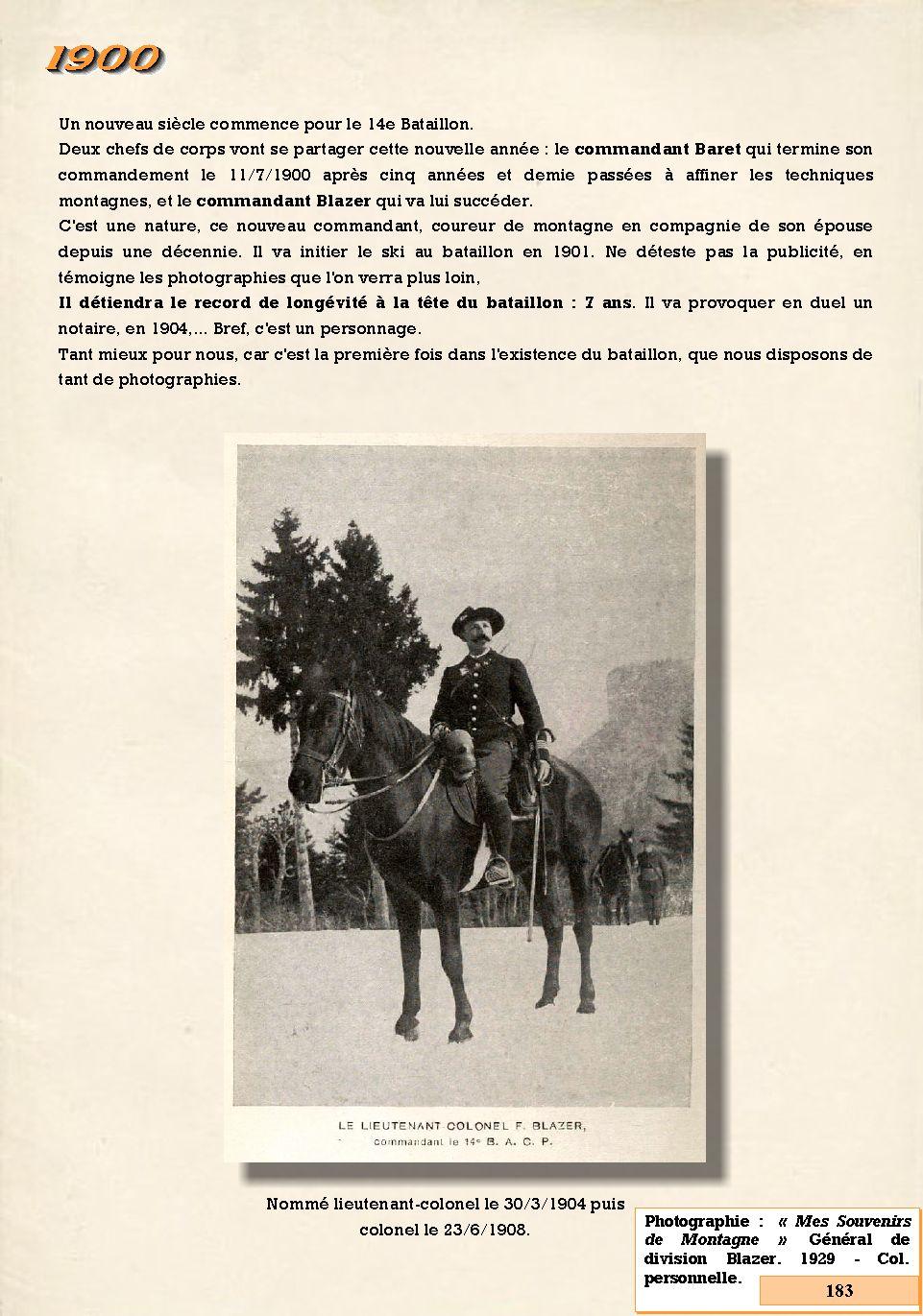 L'Historique du 14e Bataillon de Chasseurs. 1854 - 1962 183_pa10