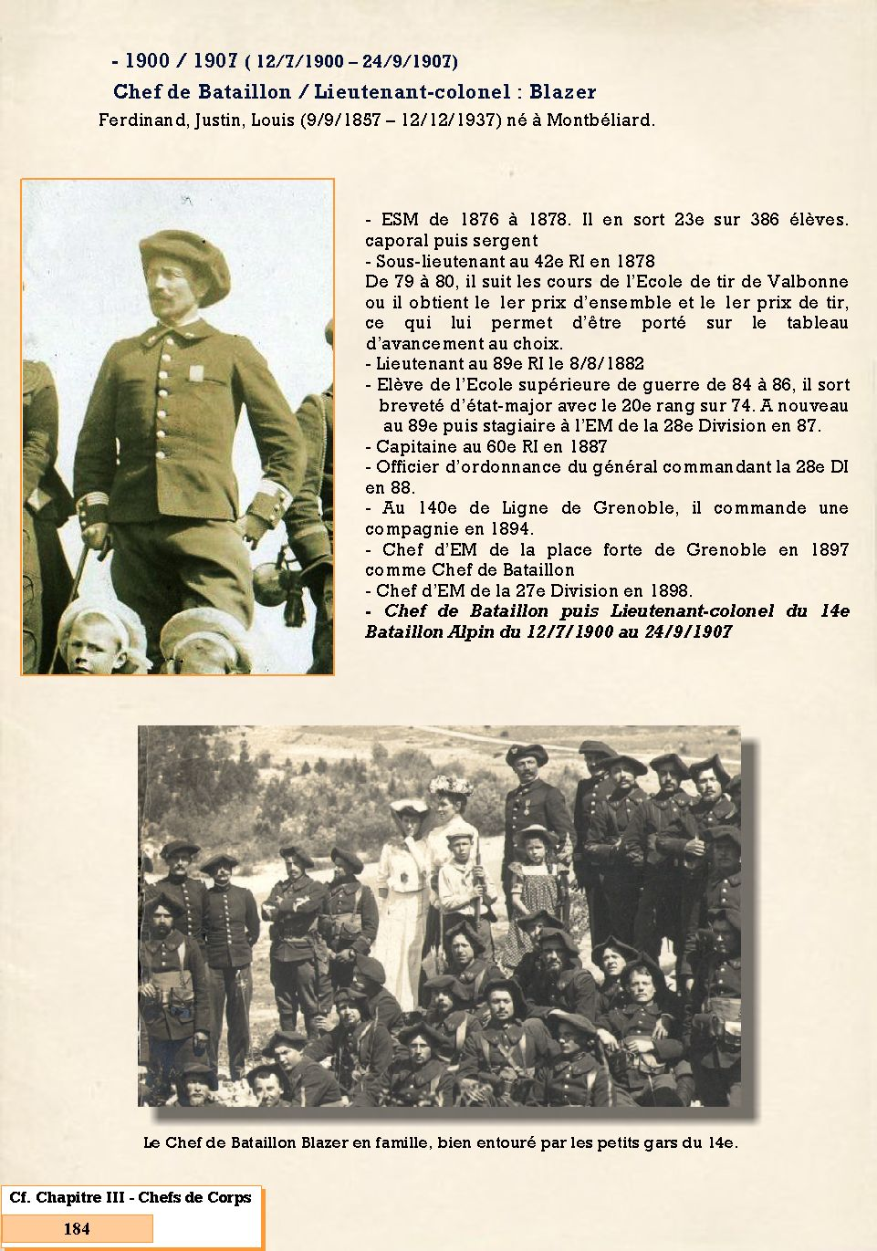 L'Historique du 14e Bataillon de Chasseurs. 1854 - 1962 184_pa10