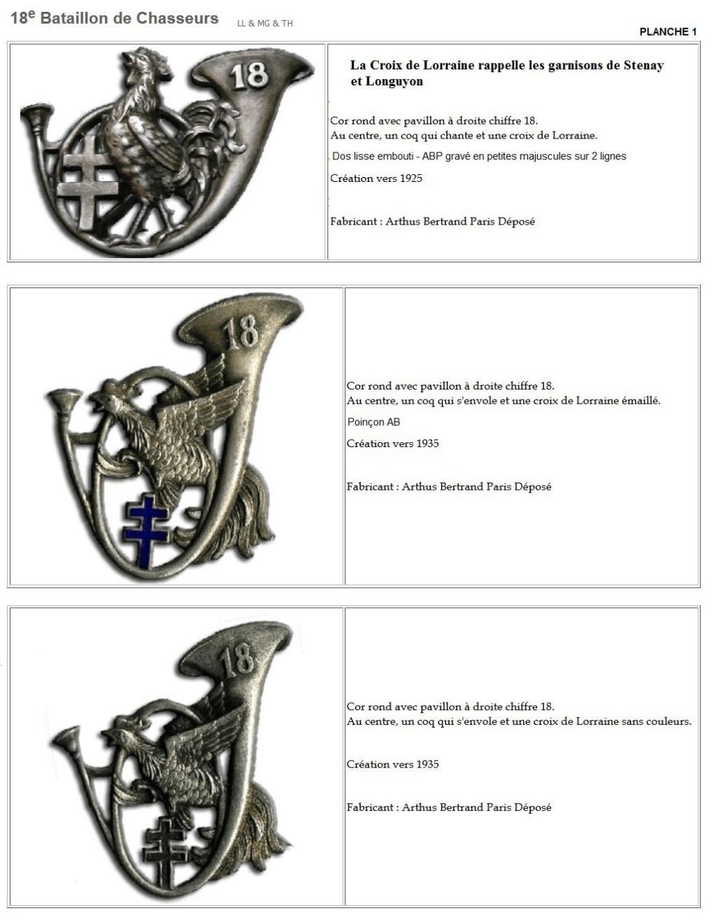 Les insignes de bataillons- Mise à jour... - Page 2 18e_pl11