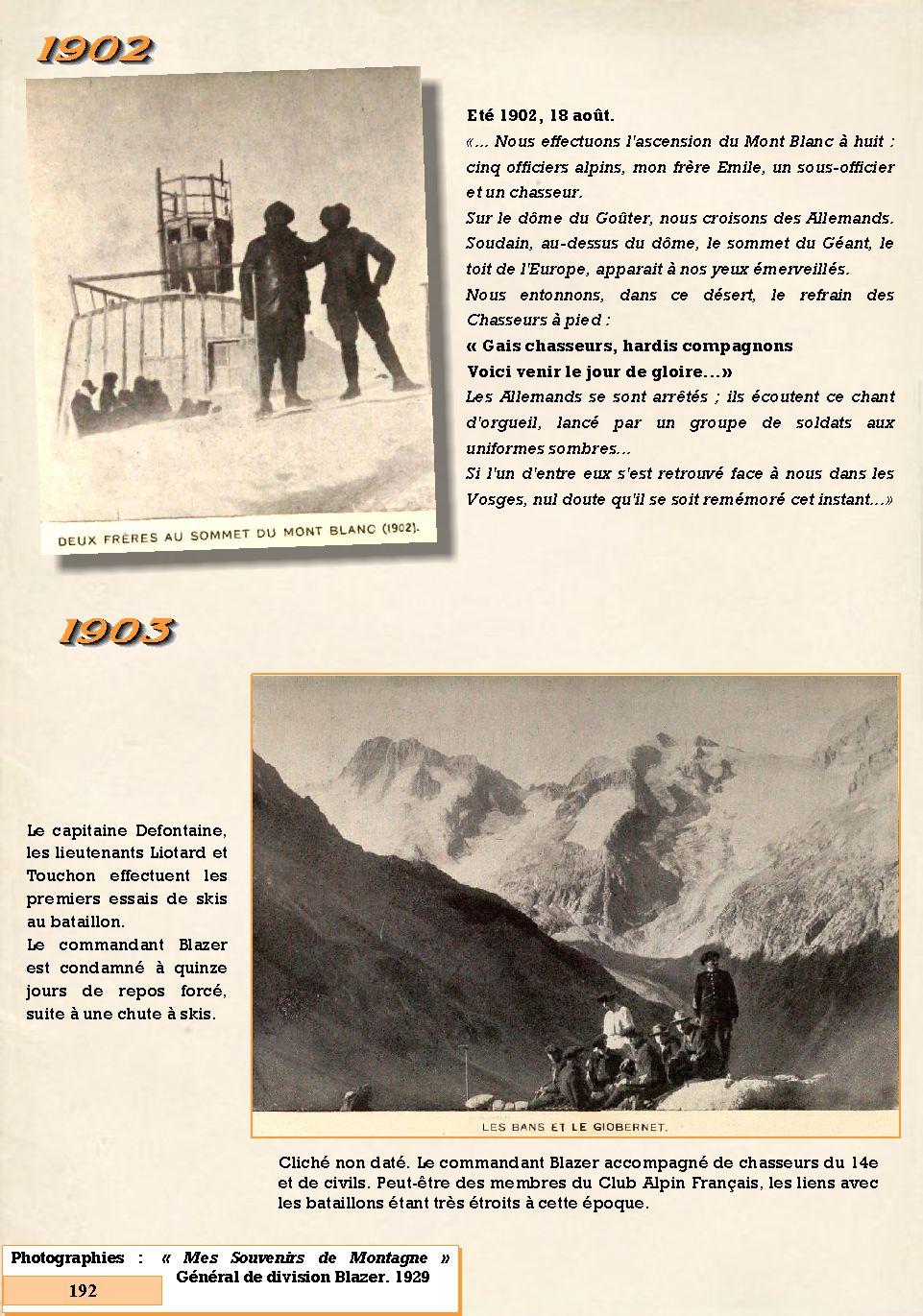 L'Historique du 14e Bataillon de Chasseurs. 1854 - 1962 192_pa10