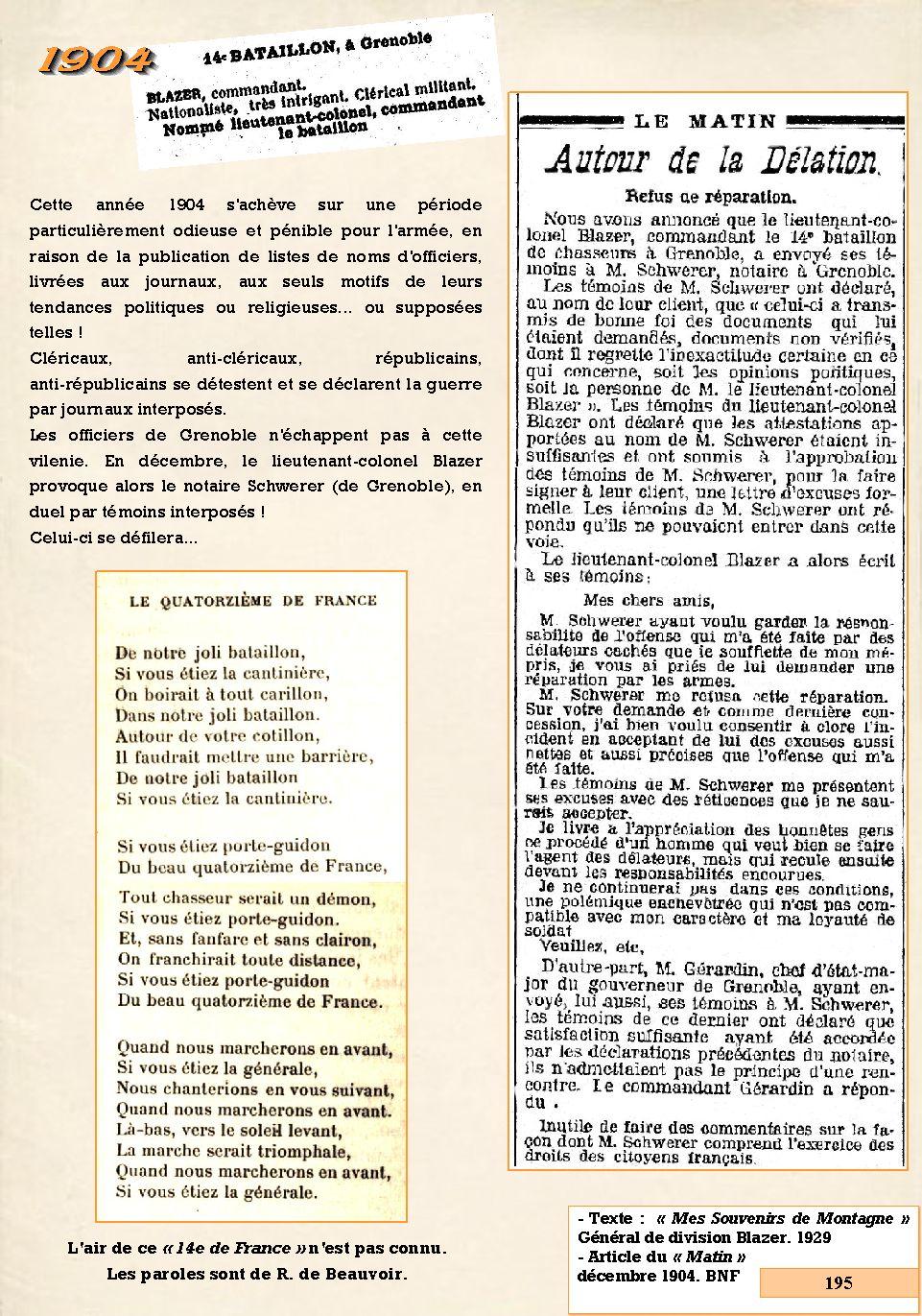 L'Historique du 14e Bataillon de Chasseurs. 1854 - 1962 195_pa10