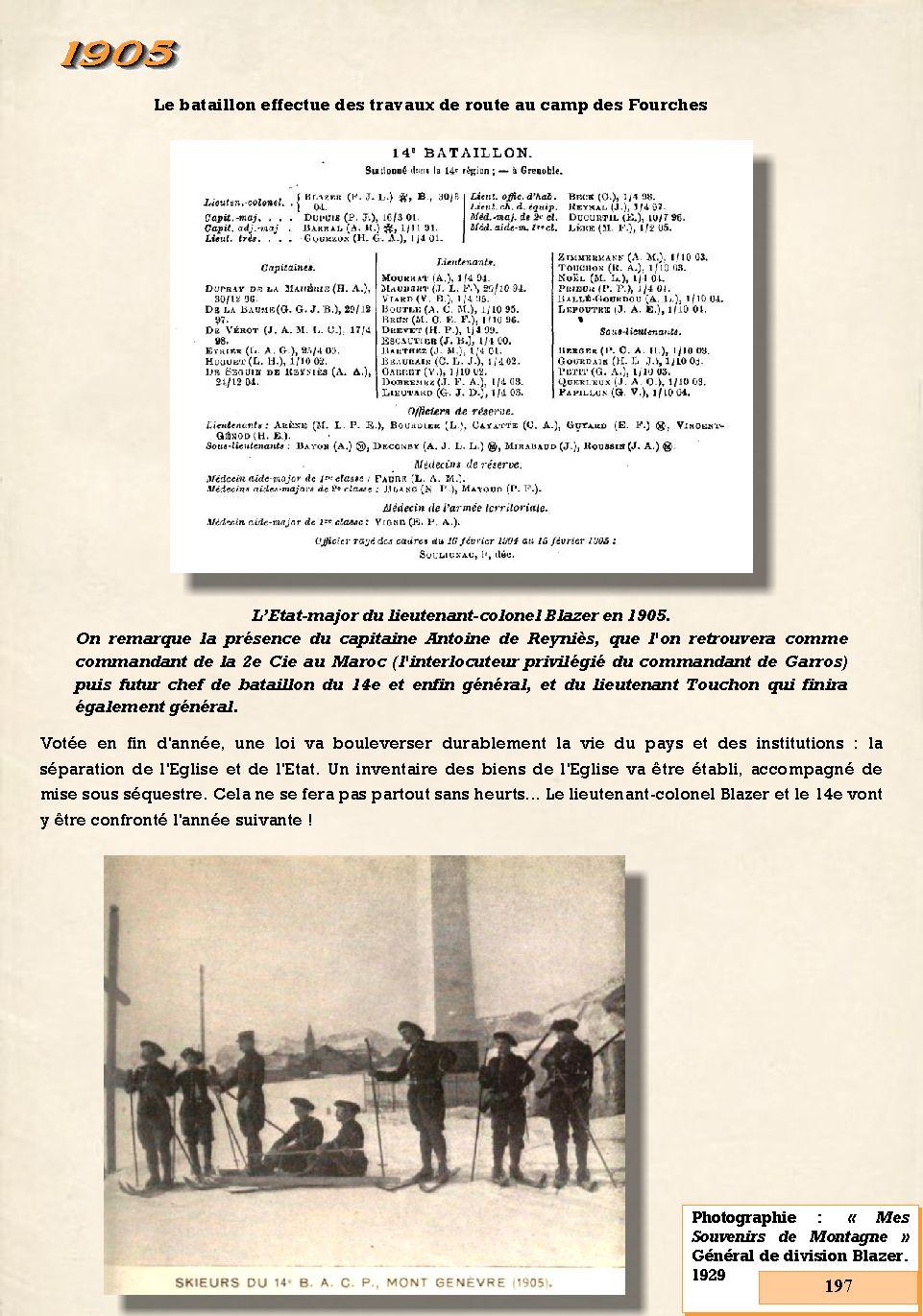 L'Historique du 14e Bataillon de Chasseurs. 1854 - 1962 197_pa10