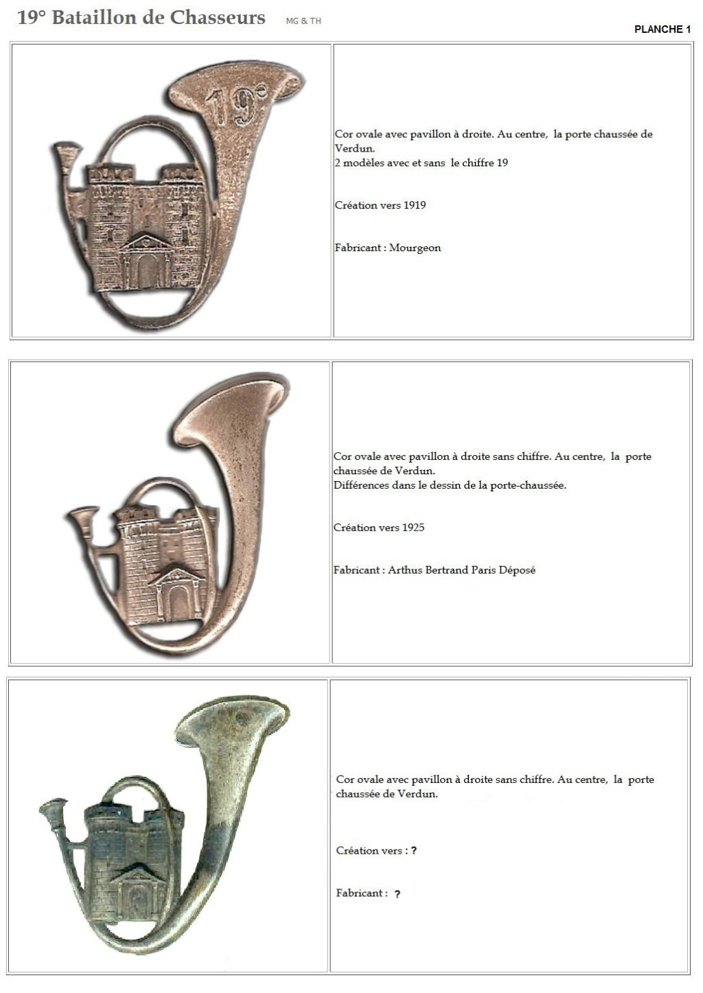 Les insignes de bataillons- Mise à jour... - Page 2 19e_pl10