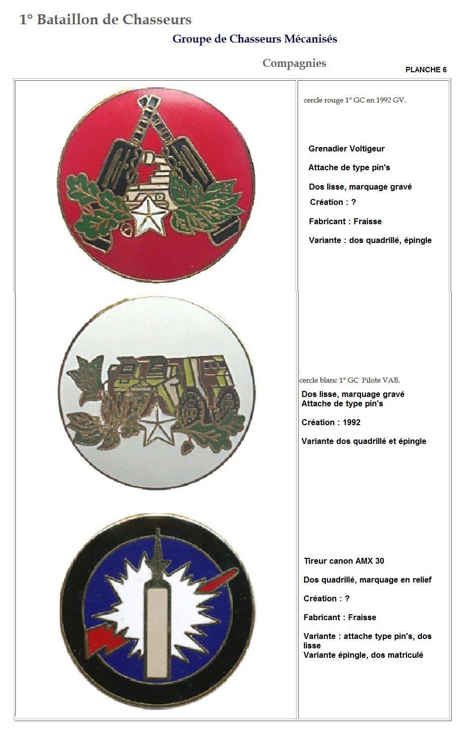 Les insignes de bataillons- Mise à jour... 1er_pl15