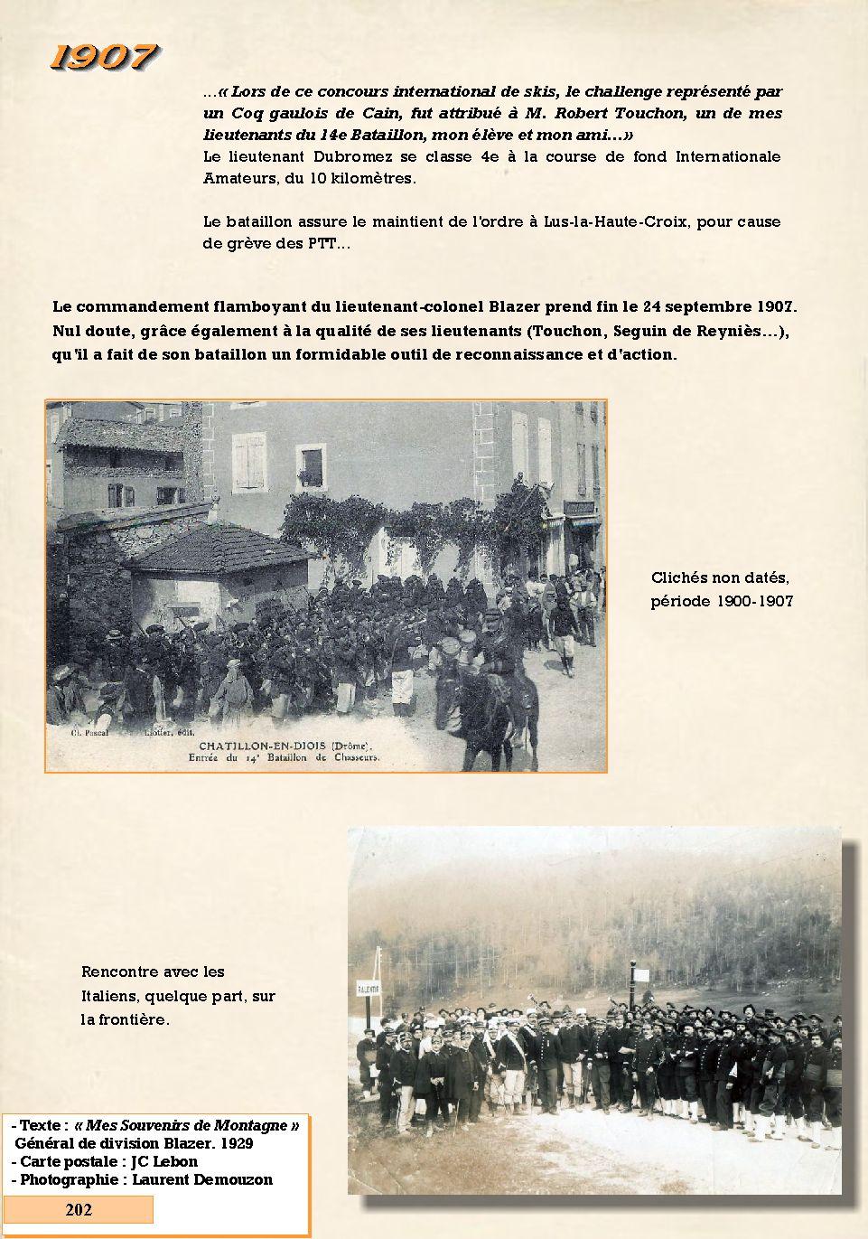 L'Historique du 14e Bataillon de Chasseurs. 1854 - 1962 202_pa10