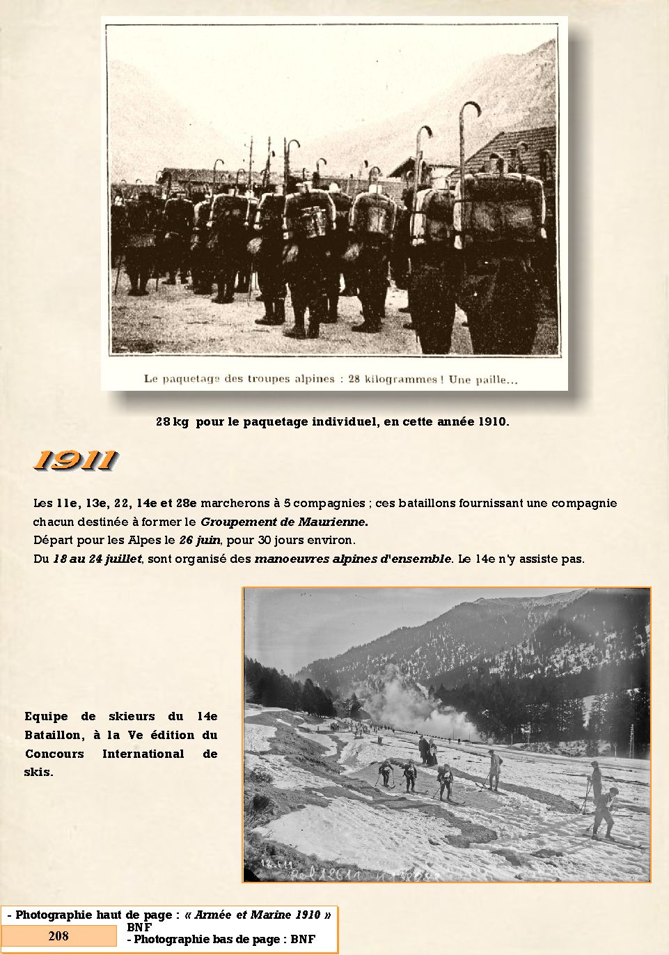 L'Historique du 14e Bataillon de Chasseurs. 1854 - 1962 208_pa10