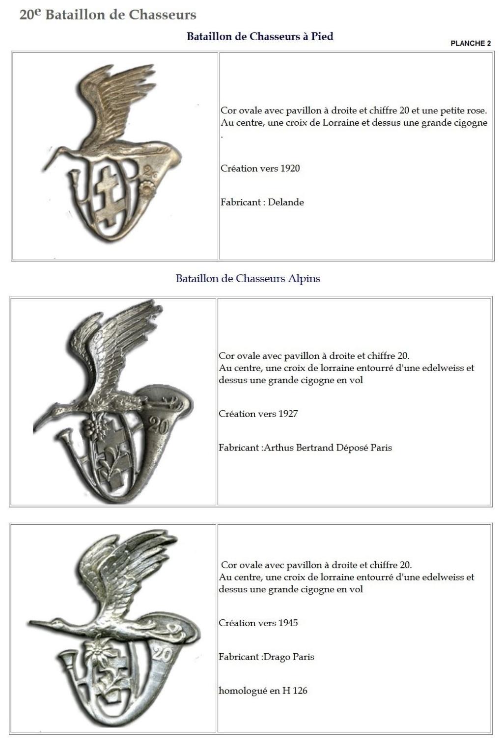 Les insignes de bataillons- Mise à jour... - Page 2 20e_pl11