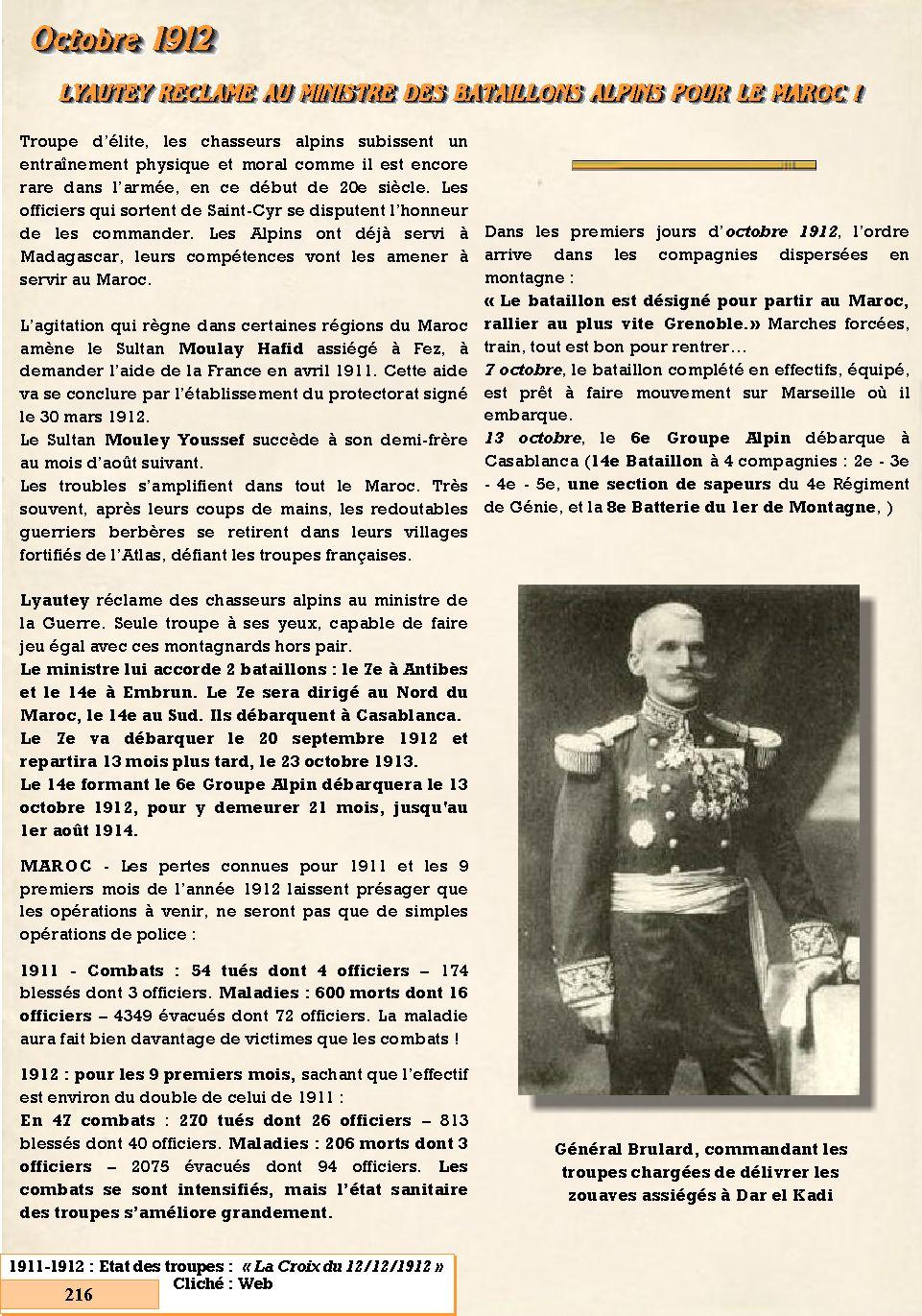 L'Historique du 14e Bataillon de Chasseurs. 1854 - 1962 216_pa10