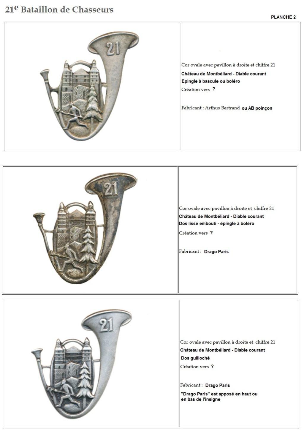 Les insignes de bataillons- Mise à jour... - Page 2 21e_pl11