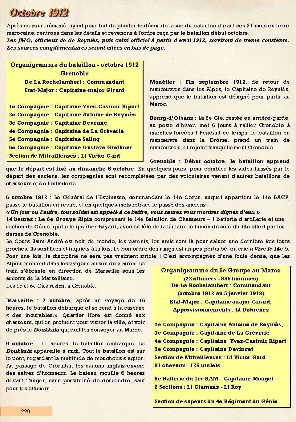L'Historique du 14e Bataillon de Chasseurs. 1854 - 1962 220_pa10
